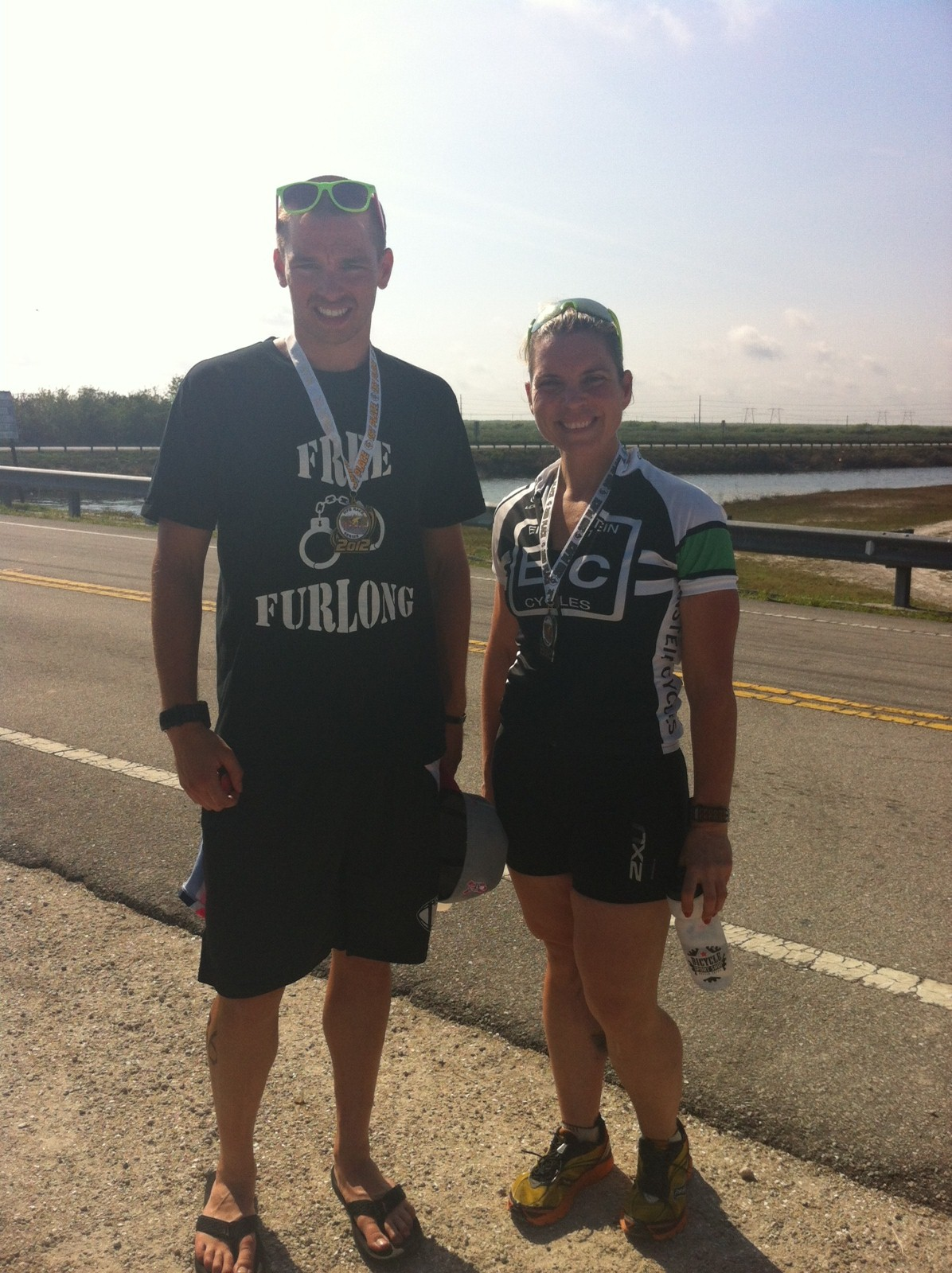Adam and Lora after their TT.