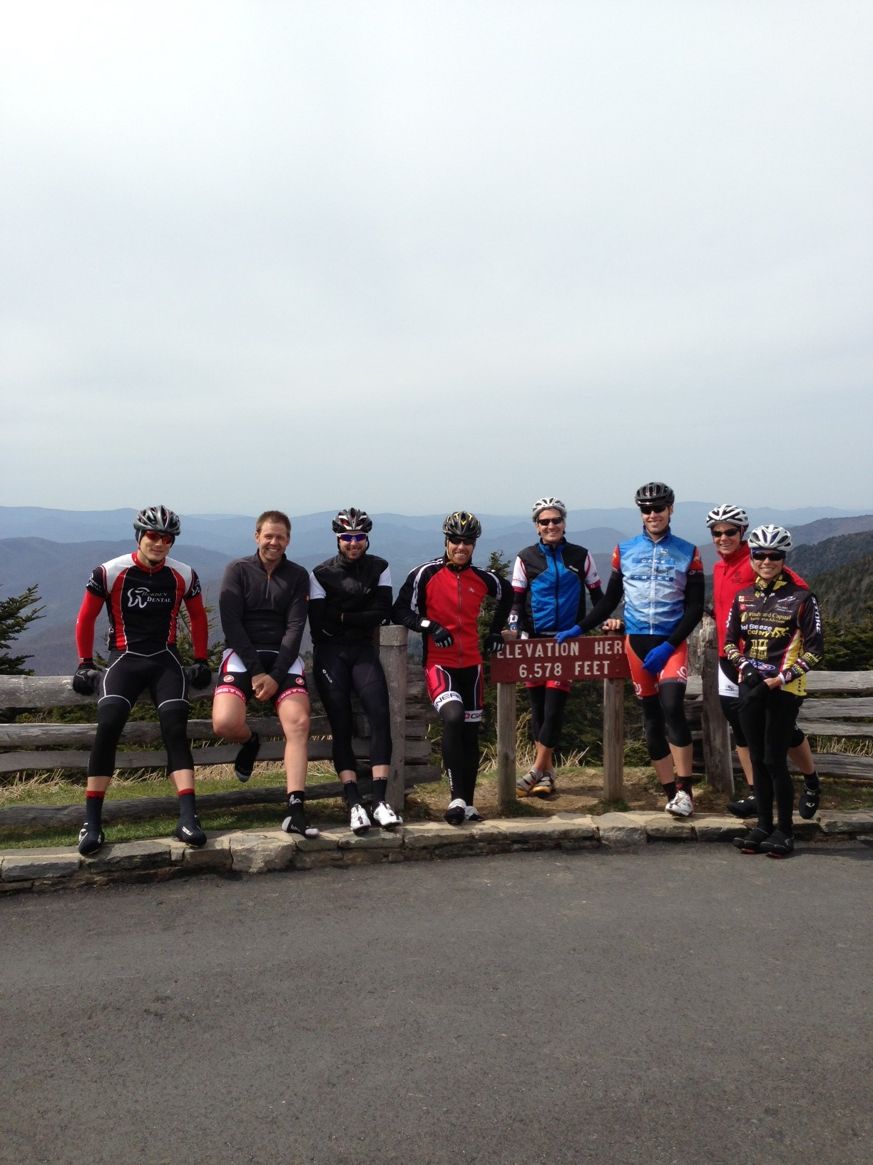 Campers at the top of the climb